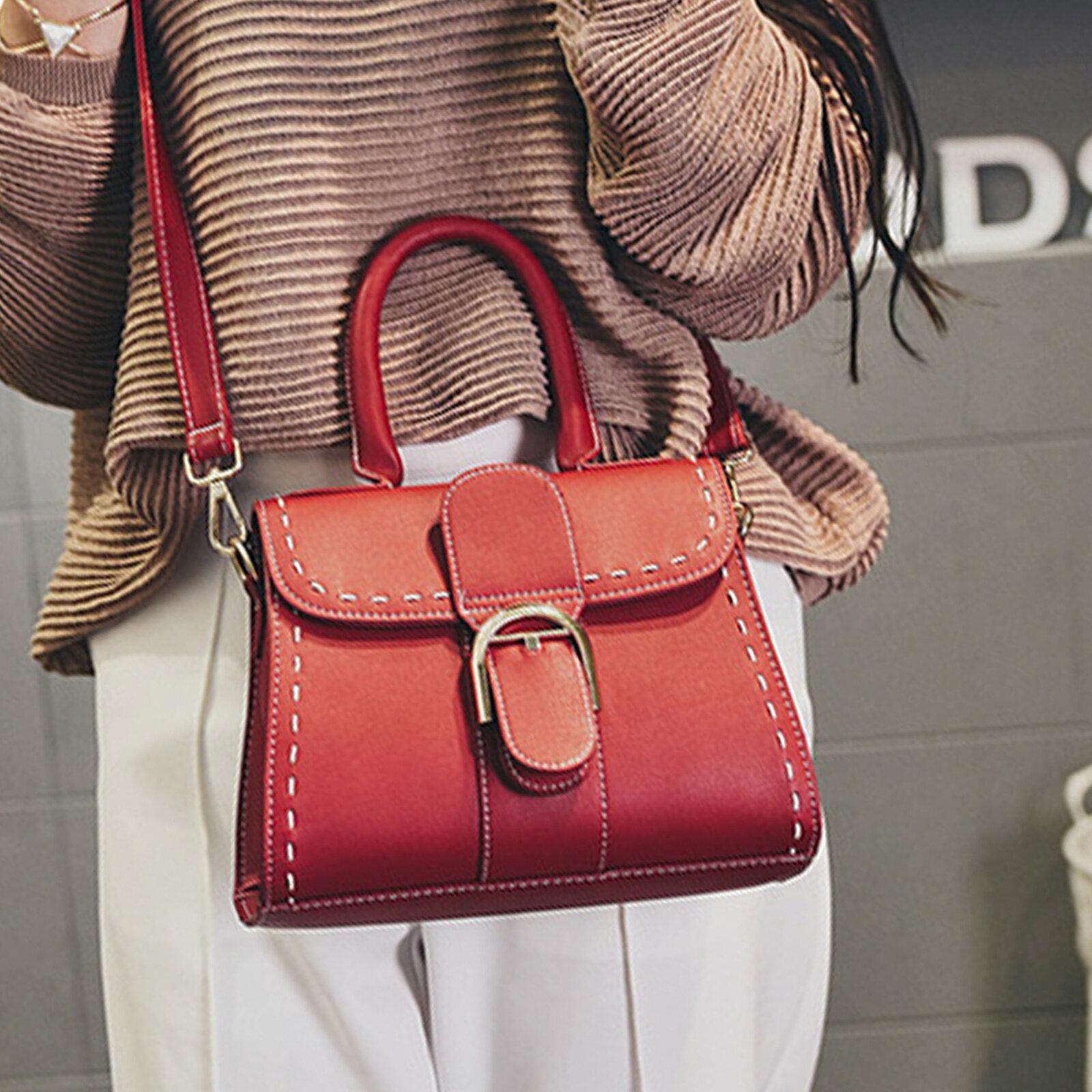 手提包 韓版時尚扣環小方包側背包【O3153】☆雙兒網☆ 2