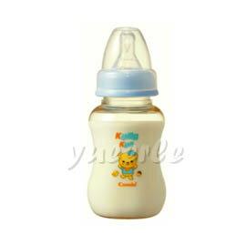 【悅兒樂婦幼用品舘】Combi 康貝 Kuma Kun 標準口PES哺乳瓶150ml (藍) ~新品上市~