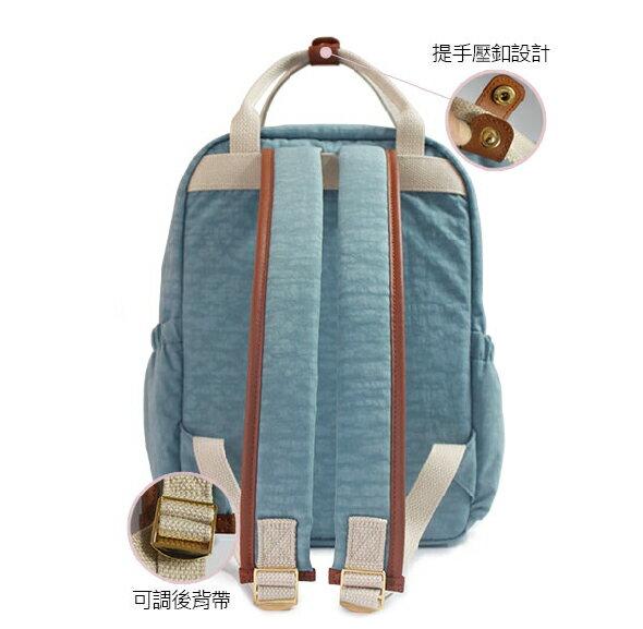 ★CORRE【JJ025】簡約皮革後背包★ 深藍/海軍灰/情人紅 共三色 4