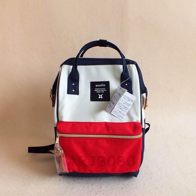 【日本anello】ANELLO 雙肩後背包 《小號》- 紅白 0