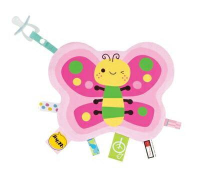 『121婦嬰用品館』拉孚兒 一手掌握布標安撫巾 - 蝴蝶 0
