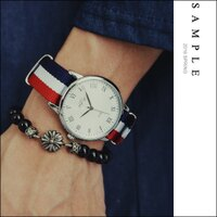 送男生聖誕交換禮物到韓國空運 手錶 紅白藍帆布錶帶羅馬數字錶【AW15715】- SAMPLE 男生聖誕交換禮物