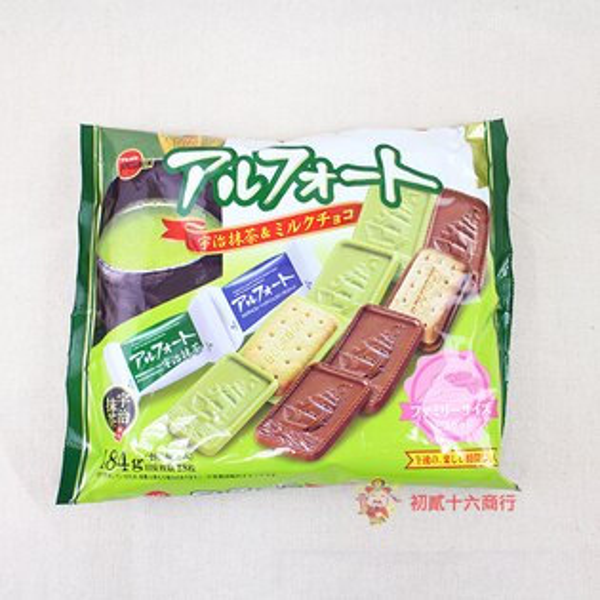 【0216零食會社】日本Bourbon-抹茶牛奶巧克力帆船餅乾181.8g