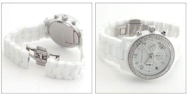 美國Outlet正品代購 MichaelKors MK 陶瓷 水鑽 三環 手錶 腕錶 MK5188 4