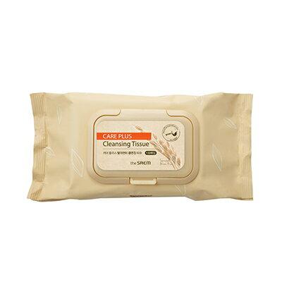 韓國the SAEM Care Plus燕麥卸妝濕巾-100pc/520g Care Plus Sprouted Brown Rice Cleansing Tissue 【辰湘國際】