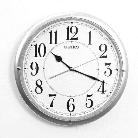 SEIKO精工掛鐘 星光銀色大數字設計時鐘 滑動式靜音秒針 柒彩年代【NG1719】原廠公司貨