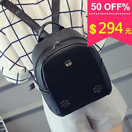 韓版質感幾何花朵後背包 手提包 包飾衣院 P1701 現貨+預購