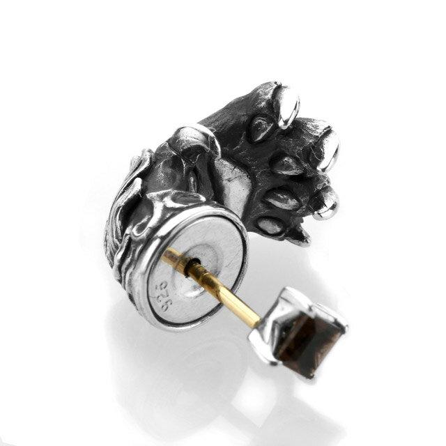 【海外訂購】【Bloody Mary】Aslan 阿斯蘭獅爪純銀耳環 煙晶石(BME1383-Sq  0897340000) 2