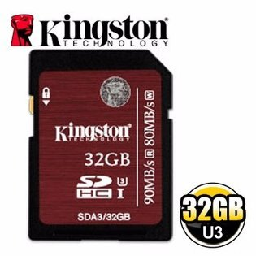 *╯新風尚潮流╭*金士頓 32G 32GB SDHC C10 UHS-I U3 記憶卡 SDA3/32GB