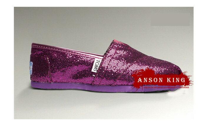 [女款] 國外代購TOMS 帆布鞋/懶人鞋/休閒鞋/至尊鞋 亮片系列  紫色 0