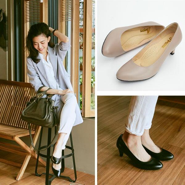 AppleNana。人人必備完美鞋楦絕對好穿羊皮尖頭高跟鞋【QC1301380】蘋果奈奈 1