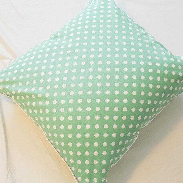 青草綠點點抱枕  45cmx45cm 精選素材 復古 純棉 2