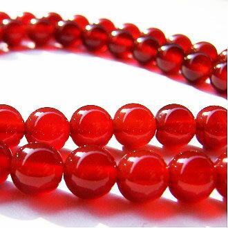[紅瑪瑙AA]天然寶石 8mm圓形珠 diy飾品散珠 1
