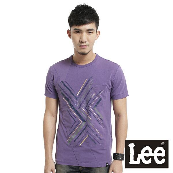 【 3折優惠↘ 】Lee  拼接幾何線條印刷短袖T恤