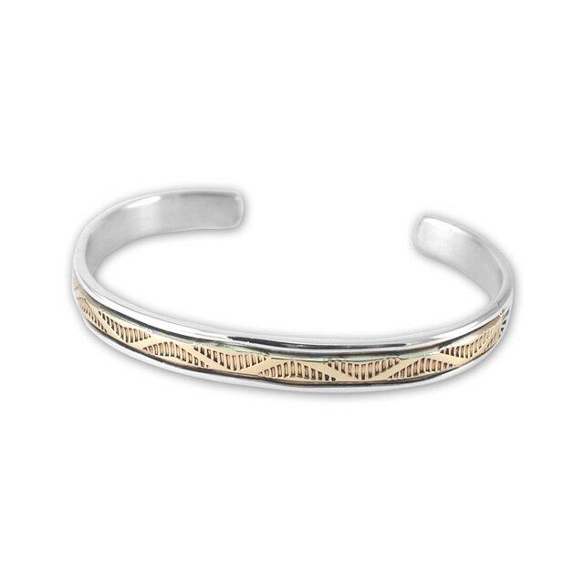 【現貨商品】【Indian Jewelry】印地安圖騰刻印鍍14K金手鐲(Navajo-054-10141) 3