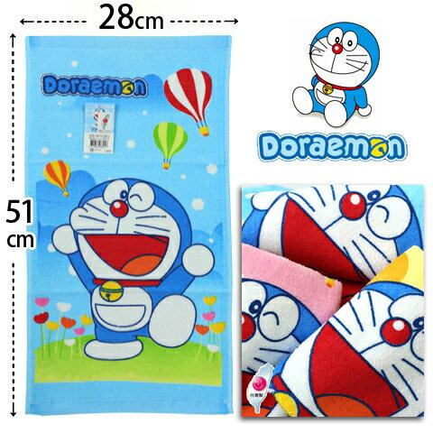 【esoxshop】純棉童巾 哆啦A夢熱氣球款 台灣製 Doraemon 小叮噹