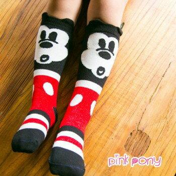 【Pink Pony】棉質可愛米奇造型中筒襪/童襪(0-3歲)