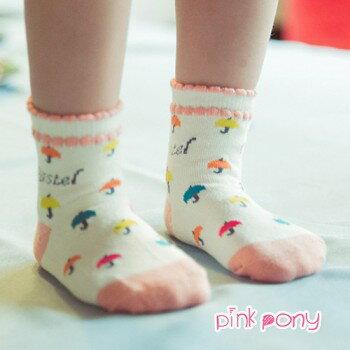 【Pink Pony】棉質多色小傘保暖襪/童襪(0-3歲)