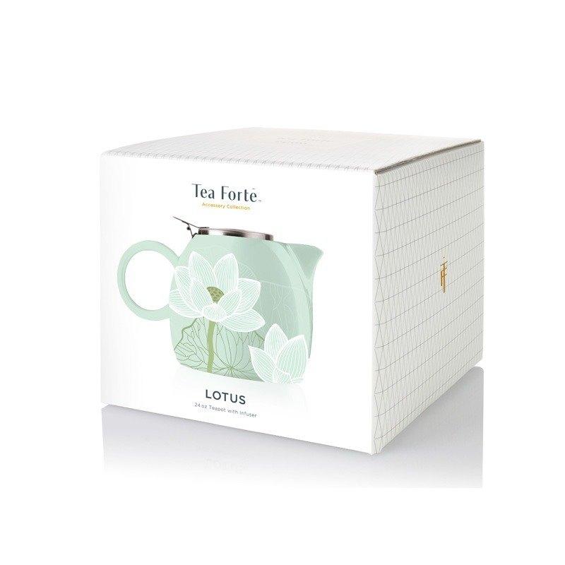 Tea Forte 普格陶瓷茶壺 - 蓮花 Lotus 2