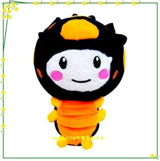 嬰童用品【asdfkitty可愛家】MOMO歡樂谷毛毛蟲絨毛玩偶-點點-正版有雷射標籤