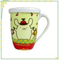 布丁狗周邊商品推薦到廚房【asdfkitty】布丁狗橫紋版陶瓷有蓋馬克杯-香港版正版商品