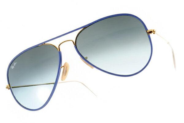 Ray Ban 雷朋  藍色金邊 RB3025JM 太陽眼鏡 2