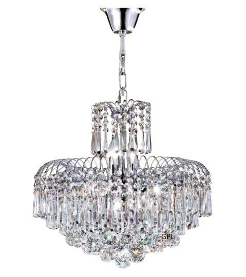 中型水晶吊燈 E14 * 8