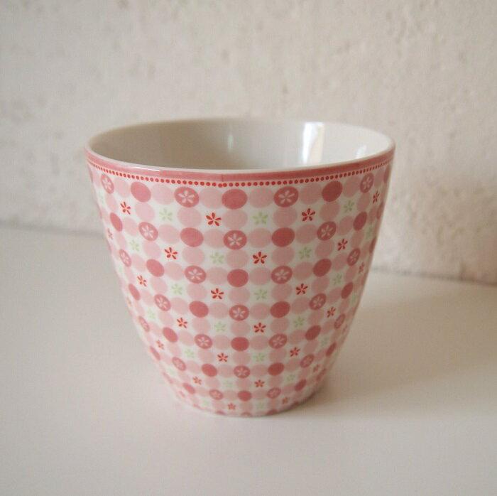 【預購】GreenGate  拿鐵杯    少女系粉紅小花~還有同系列盤子喔 - 限時優惠好康折扣