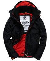 Superdry極度乾燥商品推薦[男款] 英國代購 極度乾燥 Superdry Arctic 男士風衣戶外休閒 外套夾克 防水 防風 保暖 黑色/紅色