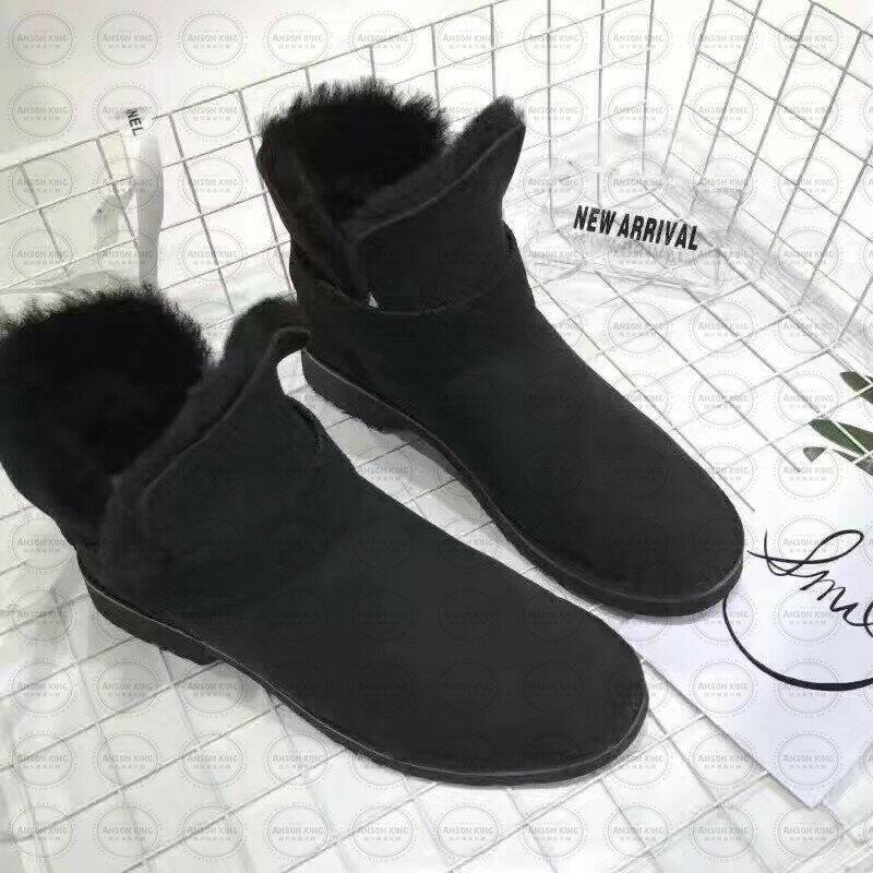 OUTLET正品代購 澳洲 UGG 羊皮毛一體馬汀靴 中長靴 保暖 真皮羊皮毛 雪靴 短靴 黑色 0