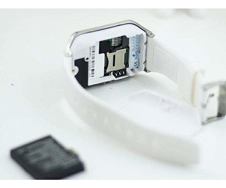 SmartWatch Con Cámara, Teléfono, Pantalla Táctil de 1,54 pulgadas y Podómetro, Correa Negra y Esfera en Plata Oscura 3