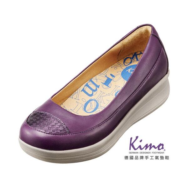 Kimo德國品牌手工氣墊鞋_金屬壓紋雙皮料娃娃厚底鞋_神秘紫_K14WF064139_贈高級鞋油