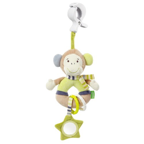 德國~BabyFEHN~叢林夥伴小猴吊掛式布偶玩具 ~  好康折扣