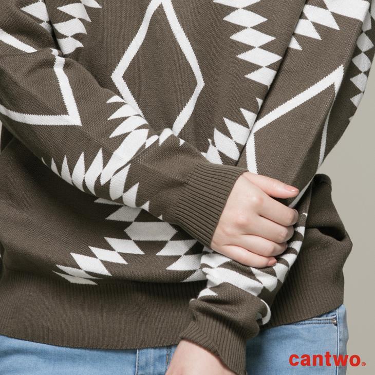 cantwo幾何民俗圖紋針織上衣(共三色) 4