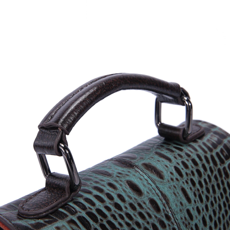 【BEIBAOBAO】文青米蘭真皮壓紋隨身包(琉璃藍  共三色) 6