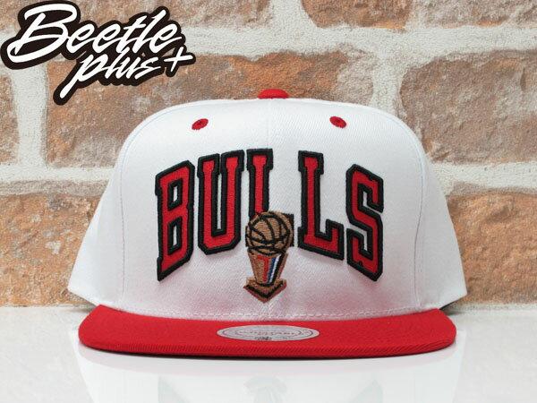 BEETLE MITCHELL&NESS NBA CHICAGO BULLS 芝加哥 公牛 冠軍 紅白 SNAPBACK MN-339 0