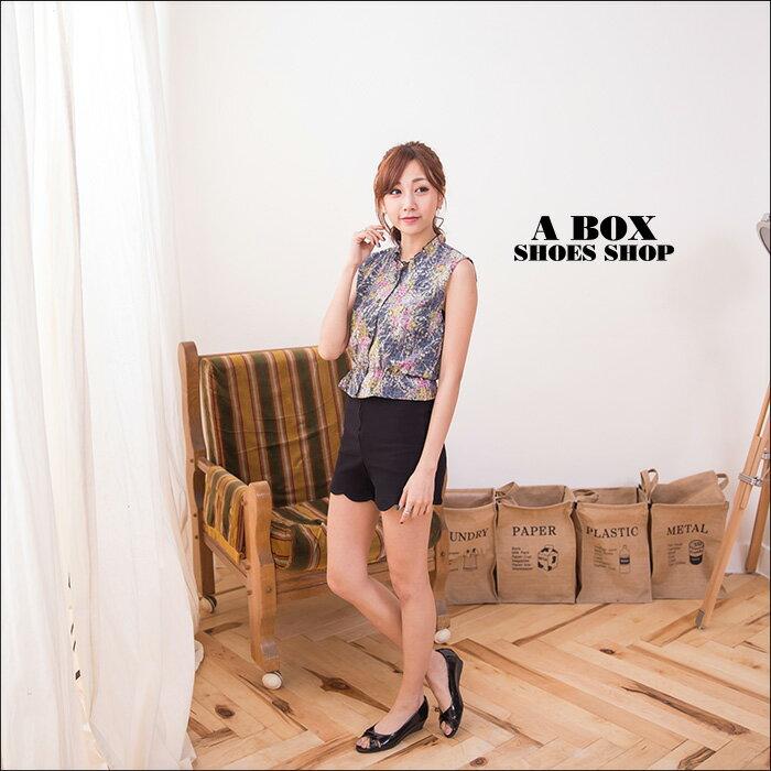 格子舖*【ADN957】MIT台灣製 經典雅致質感亮皮 交叉3.5CM楔型魚口包鞋 2色 1