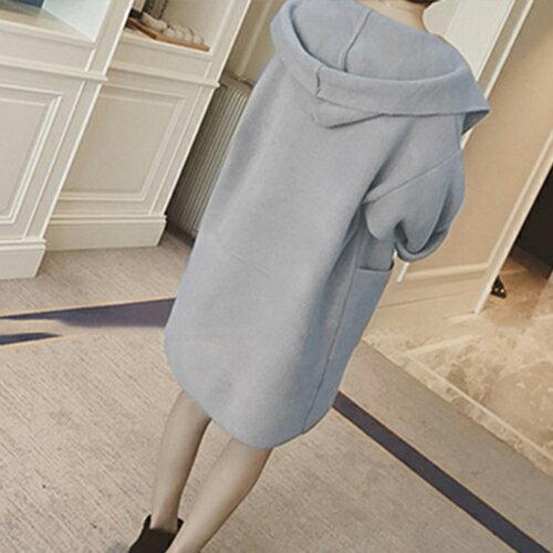 外套 - 純色連帽磨毛大口袋長版外套【29162】藍色巴黎- 預購《2色》現貨+預購 2