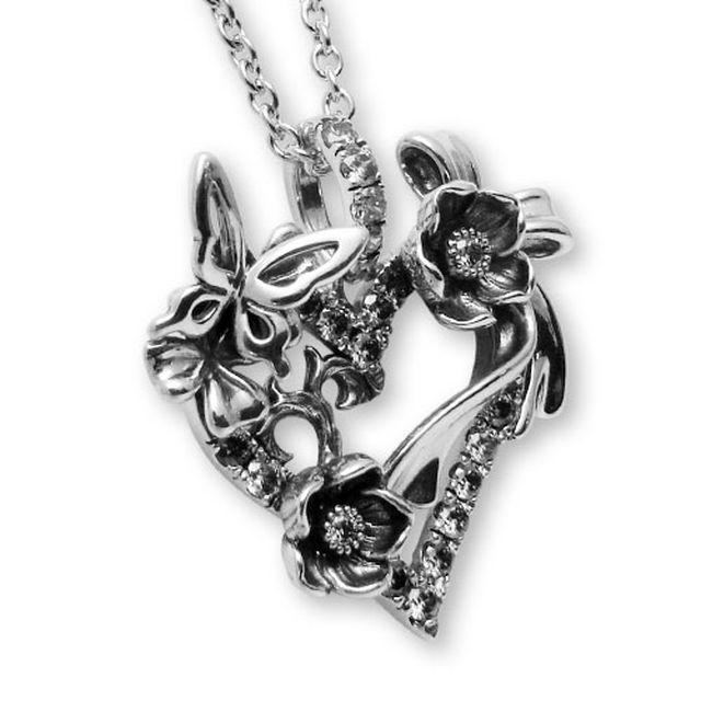 【海外訂購】【KONRON】祈願之心寶石純銀項鍊 50cm(KRP0634-Cz  03167000Q8) 2