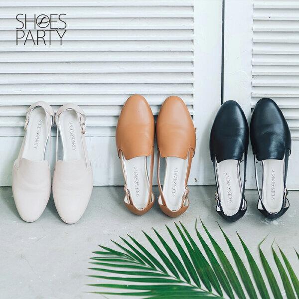 【S2-16109L】側挖空牛皮歐貝拉_Shoes Party