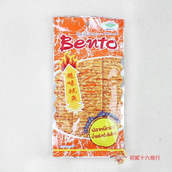 【0216零食會社】BENTO泰式碳烤麻辣香魷片24g(橘)