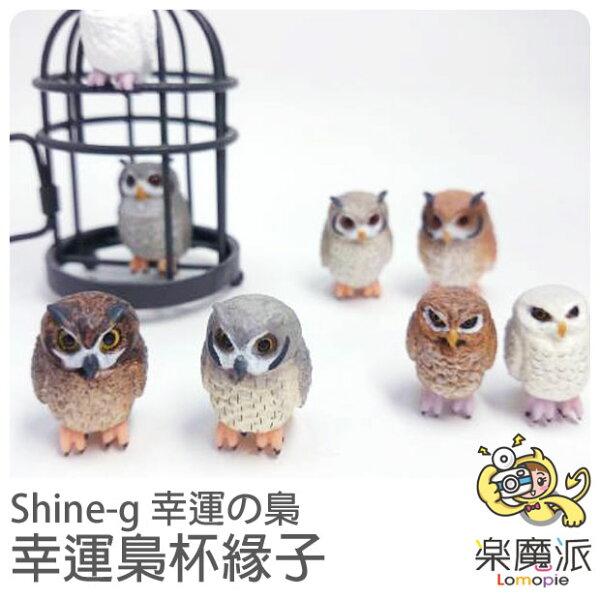 『樂魔派』日本Shine-G 扭蛋 幸運貓頭鷹杯緣公仔 食玩 療癒小物  扭蛋  杯緣子 另售蛋黃哥杯緣子 公仔模型  擺飾