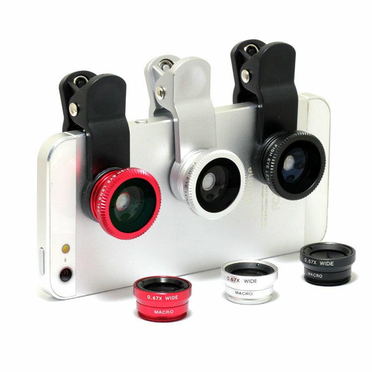 第 萬用手機平板鏡頭夾 三合一手機外接鏡頭 廣角鏡 微距鏡 近拍 魚眼鏡  699 ~