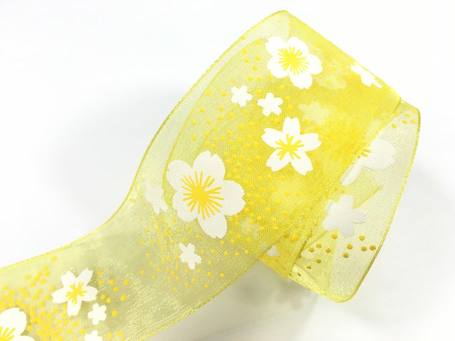 【Crystal Rose緞帶專賣店】小花朵朵網紗緞帶 38mm 3碼裝 1