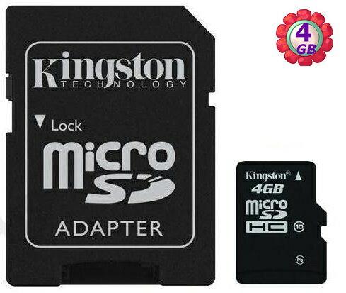 KINGSTON 4GB 4G microSDHC【class 4】金士頓 microSD SD SDHC C4 手機記憶卡 記憶卡