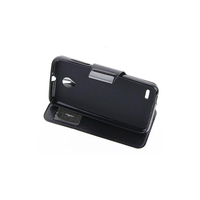Funda CUERO Tipo LIBRO VENTANA Stand Vodafone Smart Prime 6 / Alcatel One Touch Pop 2 (5) 7
