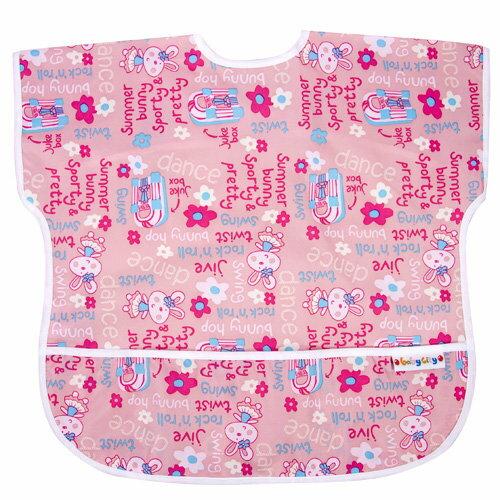 Baby City娃娃城 - 防水短袖圍兜(1-3A) 粉色兔子 0