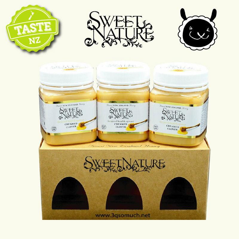 【壽滿趣】Sweet Nature -  紐西蘭進口乳狀三葉草蜂蜜禮盒(250gmx3 瓶) 0