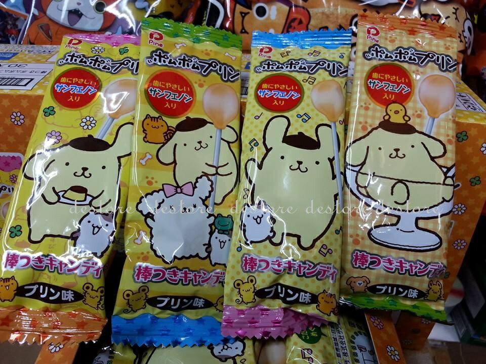 有樂町進口食品 日本 Pine 派伊 三麗鷗限定 布丁狗布丁棒棒糖 30隻入(盒) 4902435000777 1