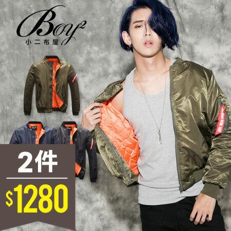 ☆BOY-2☆ 【NQ98070】美式素面MA-1鋪棉外套 0